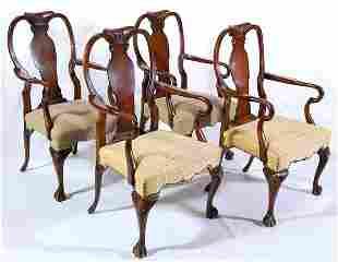 20th c. Queen Anne Chairs (4)