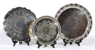 Three Silver Trays