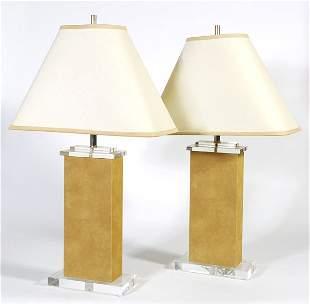 Karl Springer style lamps