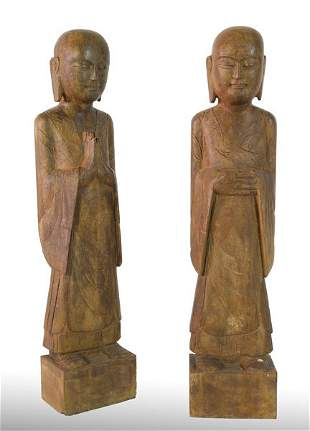 Stone Garden Statues, 20th C.