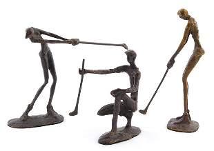 Bronze Golfers
