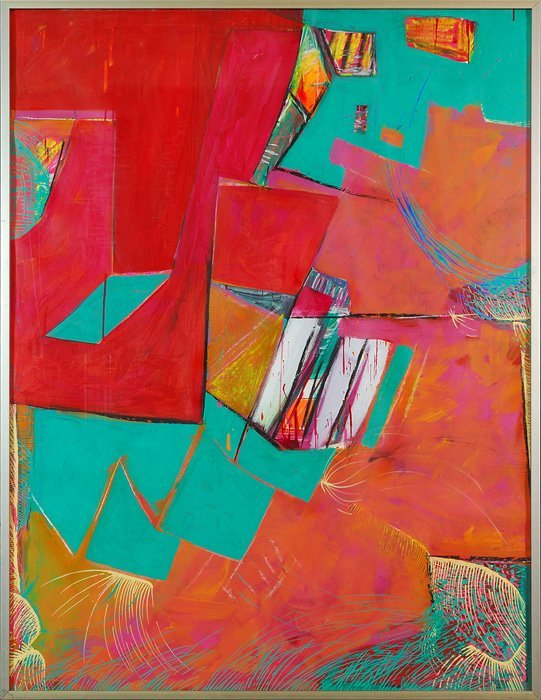 Roger E. Kast, Red Drawing Series #61  1996