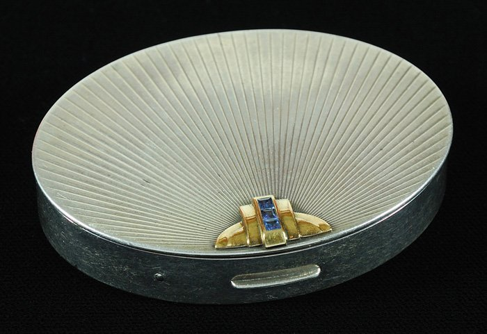Tiffany Sterling and Gold Compact