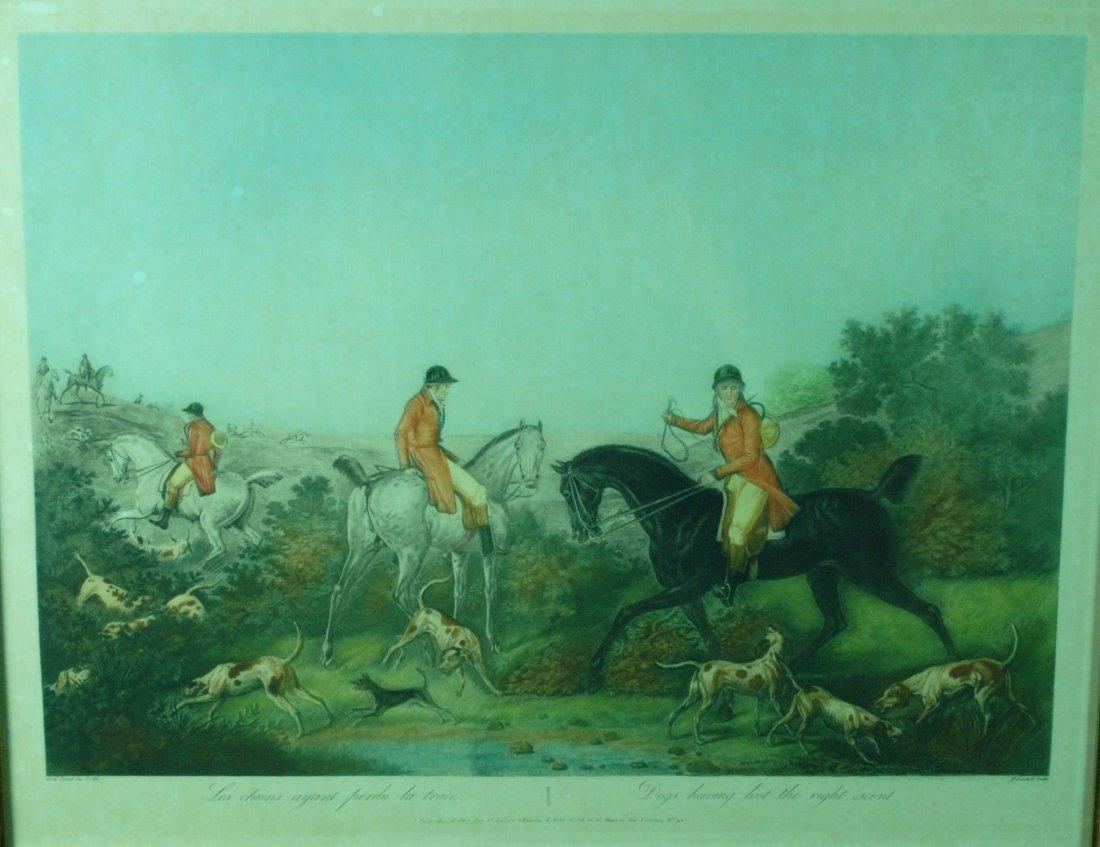 After Carl Vernet Color Engraving