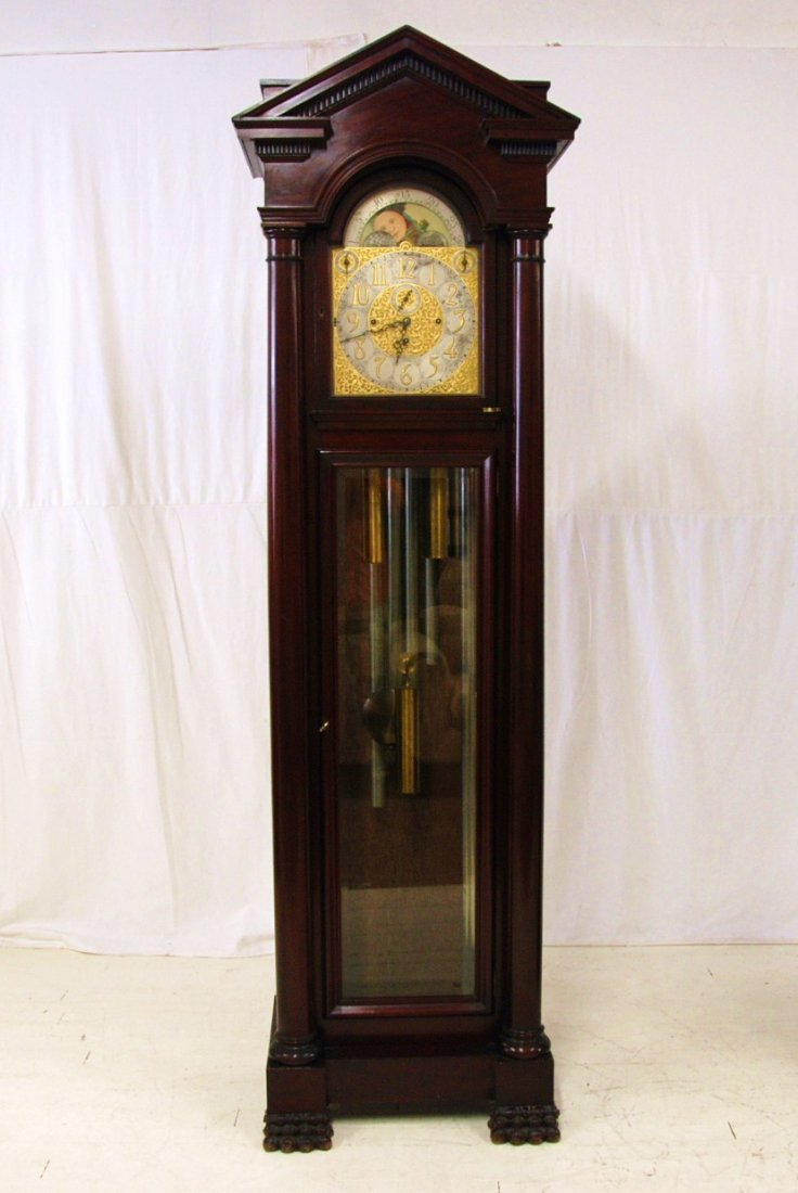 Rare Michie Brothers Tall Case Clock