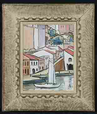 Impressionistic Harbor Scene