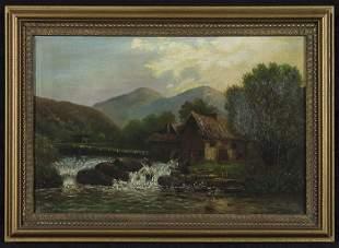 19th Century Mill Painting