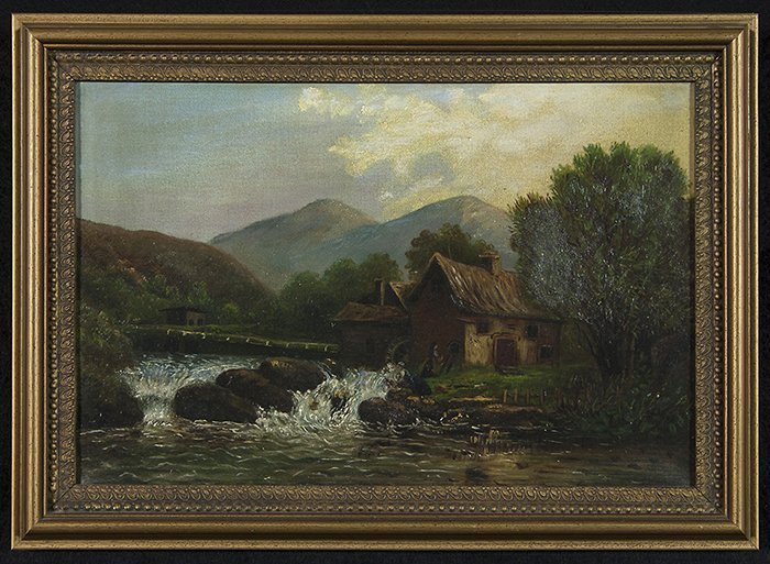 19th Century Mill Painting