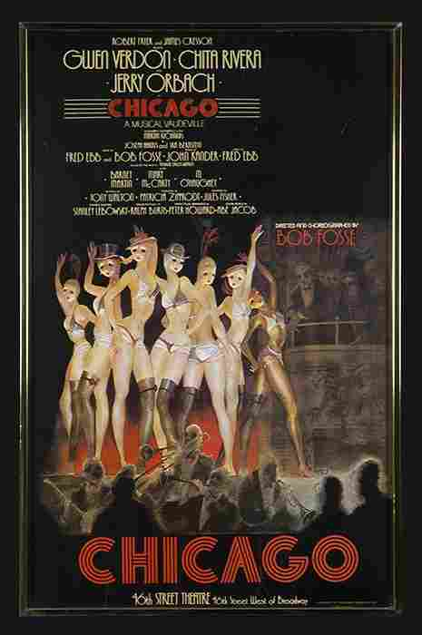 """Rare 1st Edition """"Chicago"""" Theater Poster."""