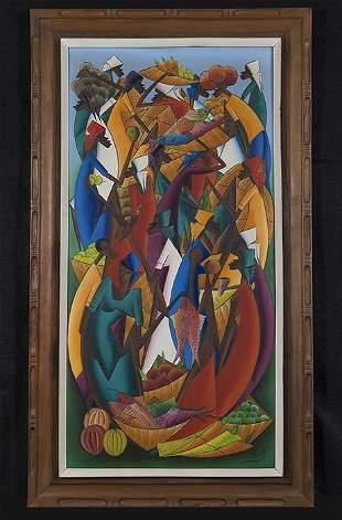 Haitian Market Painting