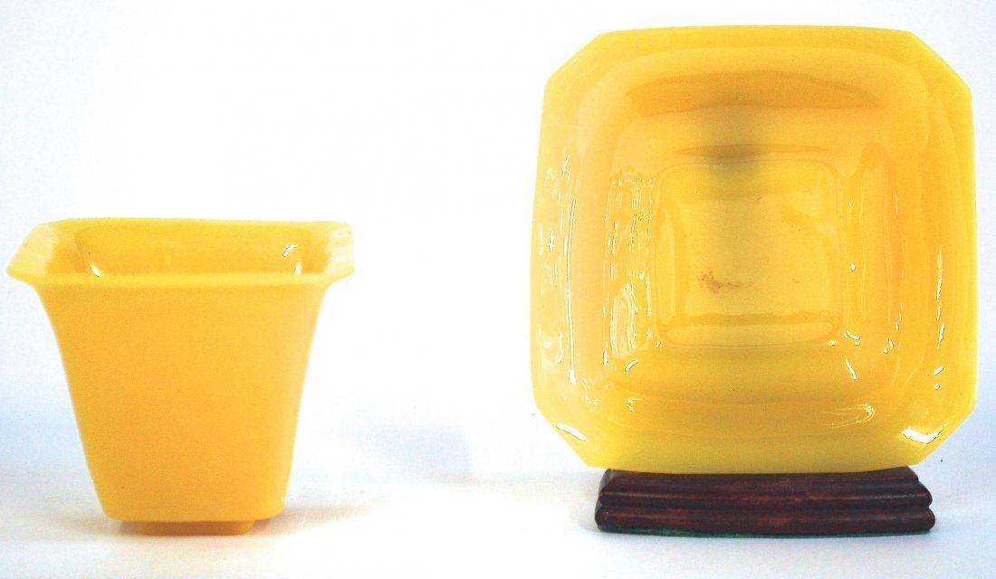 18th Century Chinese Yellow Glass Pot