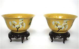 Pair of 16th Century Brinjal Bowls.