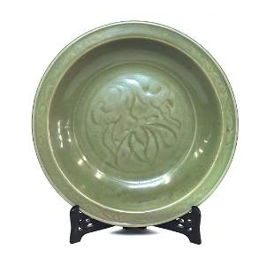 Large 18th Century Celadon Charger