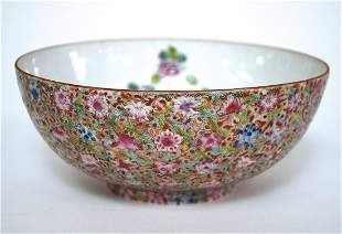 Late 18th Century Chinese Famille Rose Bowl.
