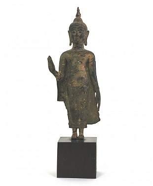 13th /14th Century Thai Bronze Standing Buddha