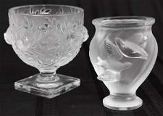 Lalique Bird Vases