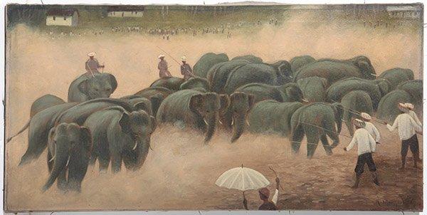 Herding Elephants Oil