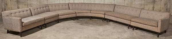Rare Edward Wormley Sectional Sofa
