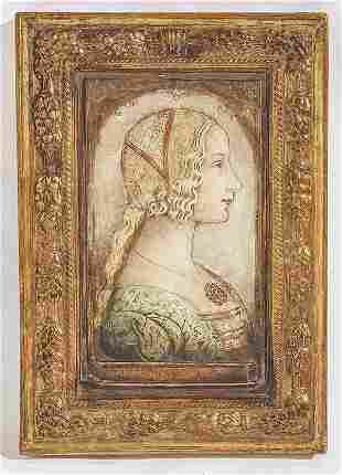 After Domenico Ghirlandaio Terra Cotta Placque