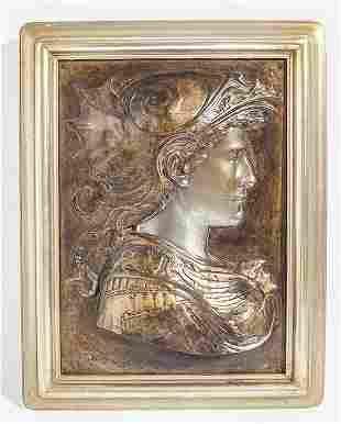 Embossed Bronze Head Plaque