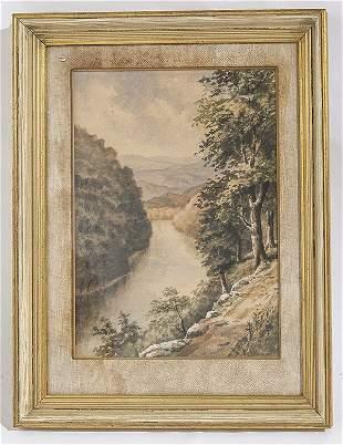 John Anthony Bartok (1938-2002) Watercolor