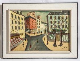 Street Scene, Oil