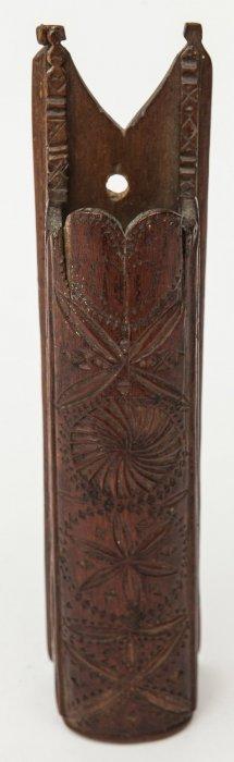 Folk Art Carved Holder