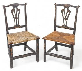 Pair American Chippendale Side Chair