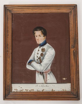 Reverse Painting Of General Napoleon