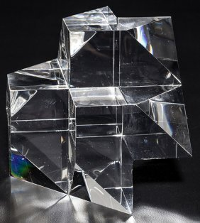 Steuben Cubist Sculpture