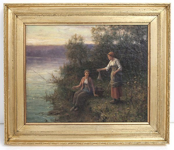 Paul Blondeau (19th 20th Century) Oil