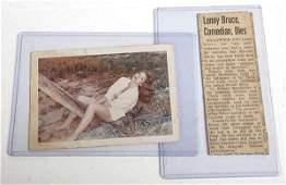 Lenny Bruce signed Postcard