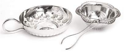 Tiffany Sterling Tea Strainer and Sommelier