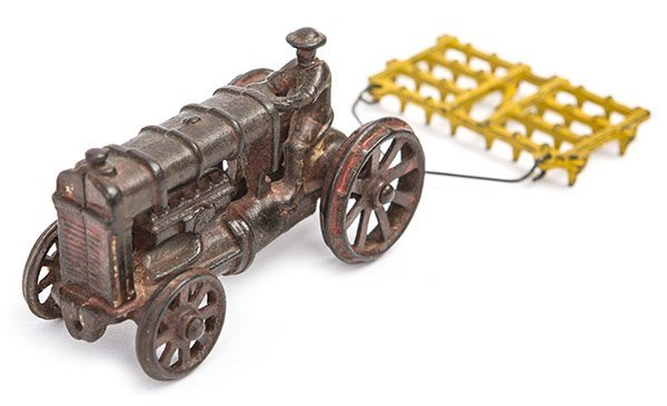 Cast iron Tractor and Cultivator circa 1920