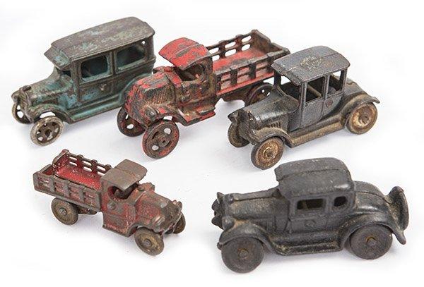 Assembled cast iron cars and trucks