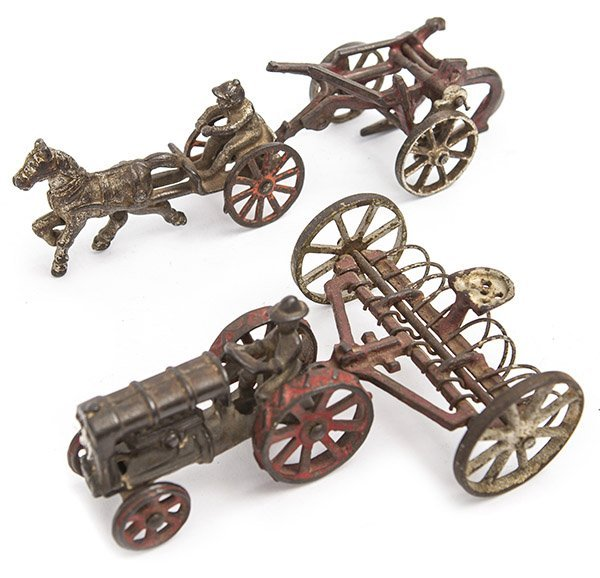 Assembled cast iron toys