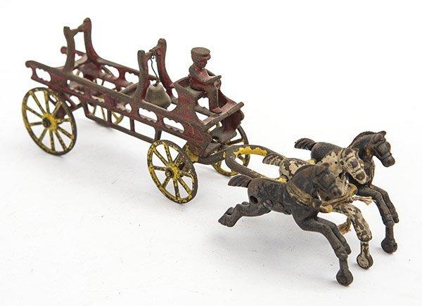 Cast Iron fire truck Circa 1900-1910