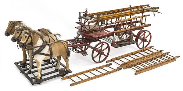 Outstanding 19th Century Horse Drawn Fire Truck