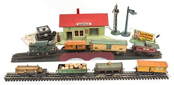 American Flyer Train Set and Danville Train Station