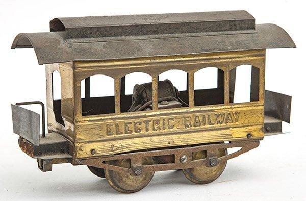 Brass Electric Railway Car