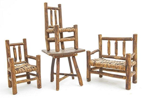 B- Miniature Old Hickory Furniture