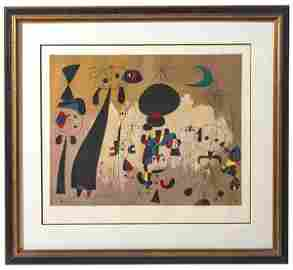 Joan Miro (1893-1983) Spain/France, Femme, Lune, Etoile