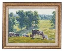 Edward Charles Volkert (1871-1935) Oil (Cincinnati)