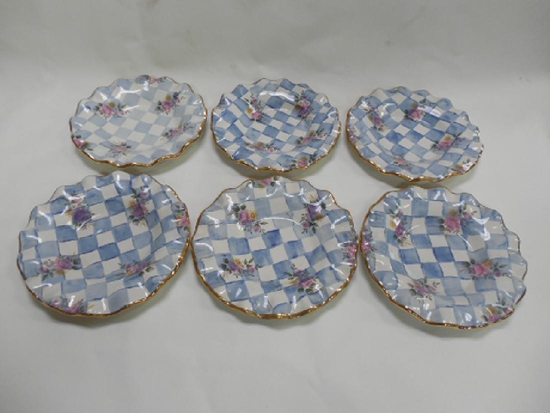"6 Mac Kenzie Childs 9"" Morning Glory Plates"