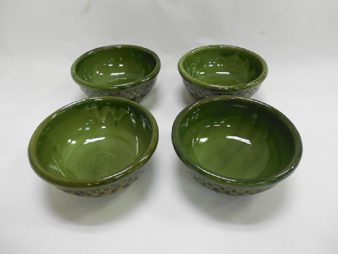 4 Mac Kenzie Childs Green Bowls