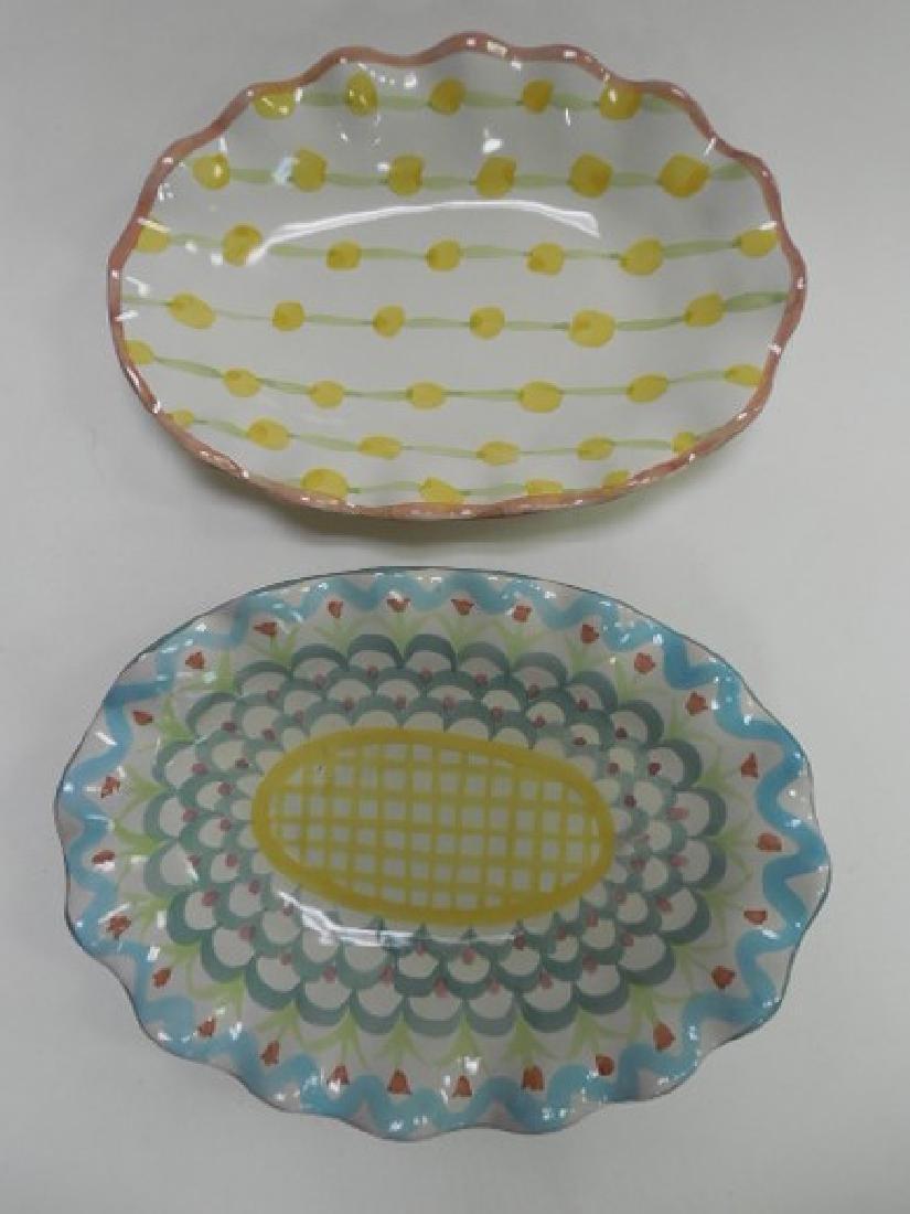 2 Mac Kenzie Childs Small Oval Platters
