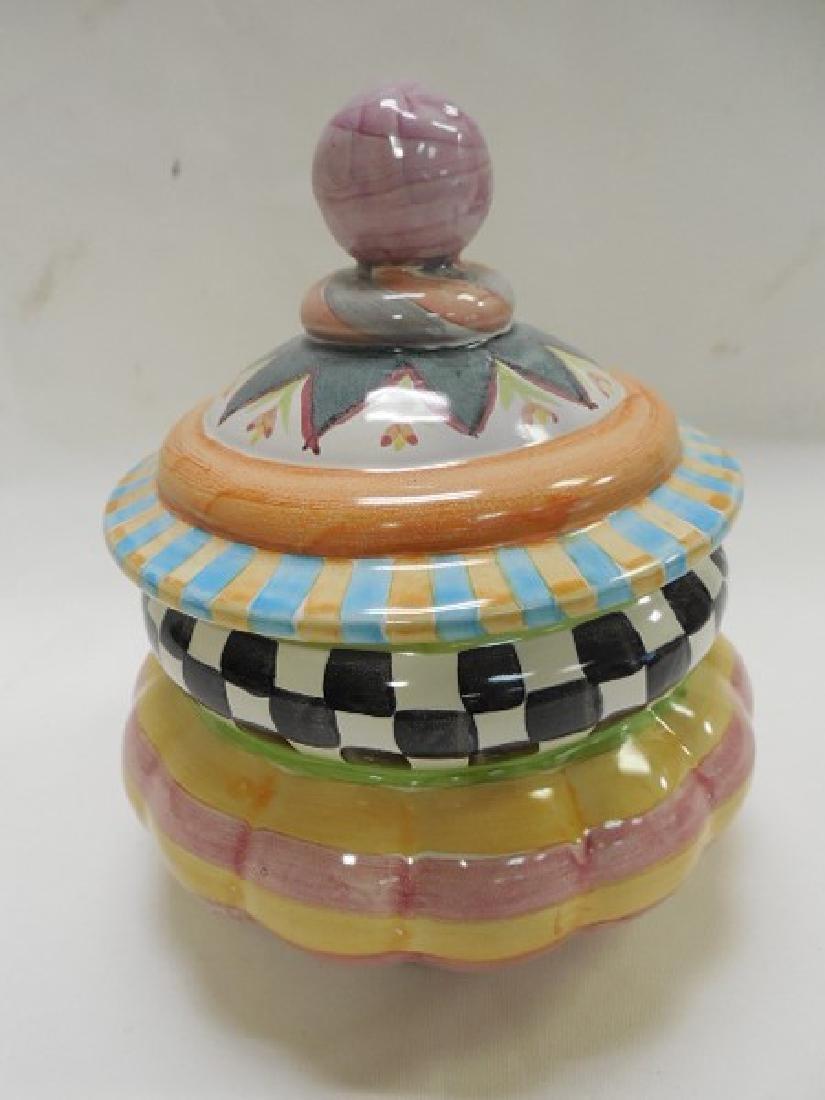 Mac Kenzie Childs Round Covered Jar - 2