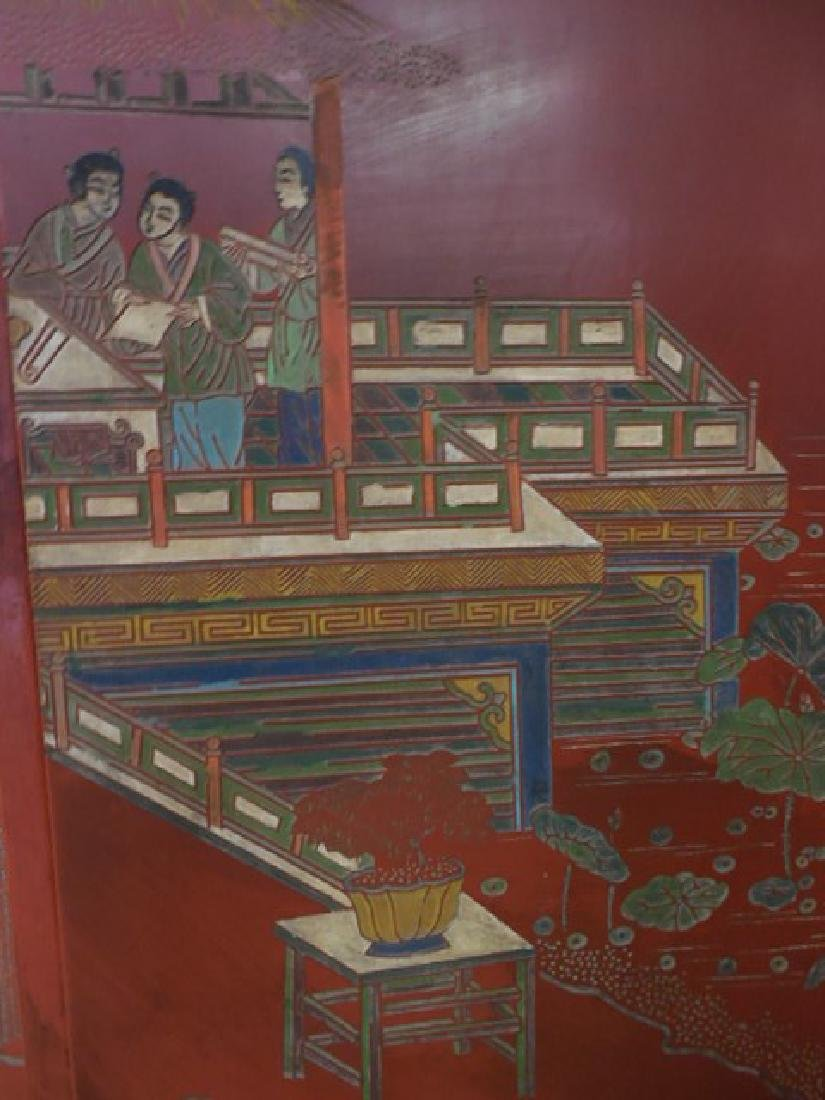 Red Chinese Room Screen - 2