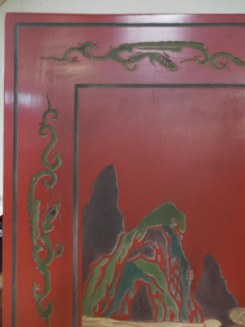 Red Chinese Room Screen - 3