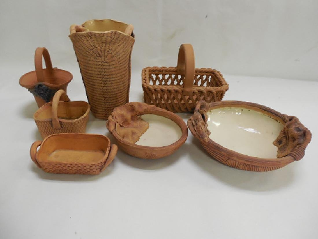 7pcs Pottery , 2pcs  Terrafima, 3pcs David Heger
